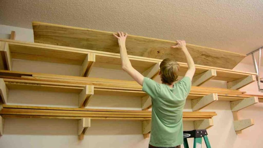 Lumber Storage Shelves