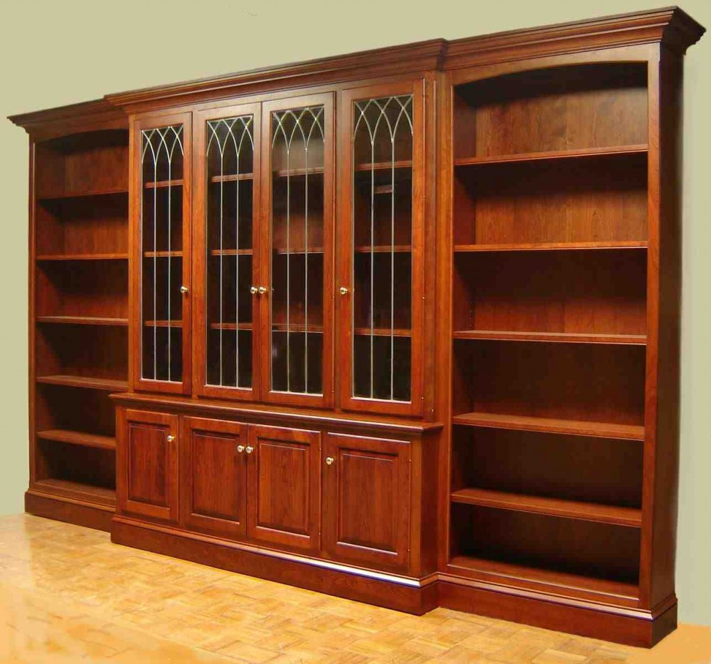 Book Shelves with Glass Doors