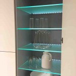 Glass Kitchen Shelves