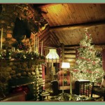 Log Cabin Christmas Decorations