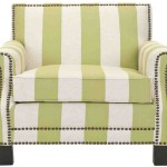Striped Club Chair