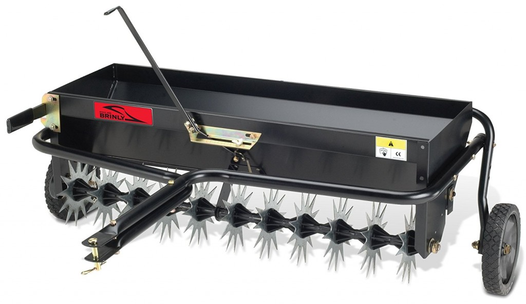 Brinly Hardy 40 In Tow Behind Combination Aerator Spreader