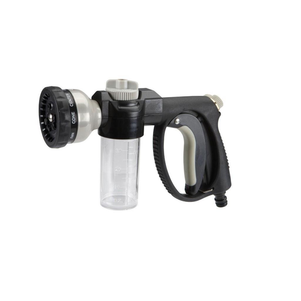 Garden Hose Nozzle With Soap Dispenser