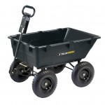 Gorilla Carts Gor866d Heavy Duty Garden Poly Dump Cart