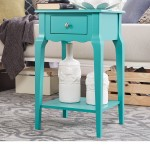 Aqua End Table