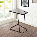 Black Glass End Table