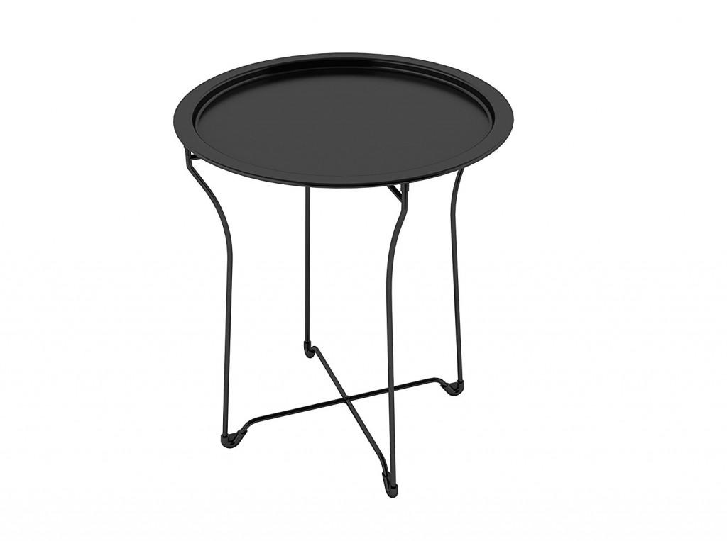 Black Metal End Table