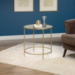 Gold Glass End Table