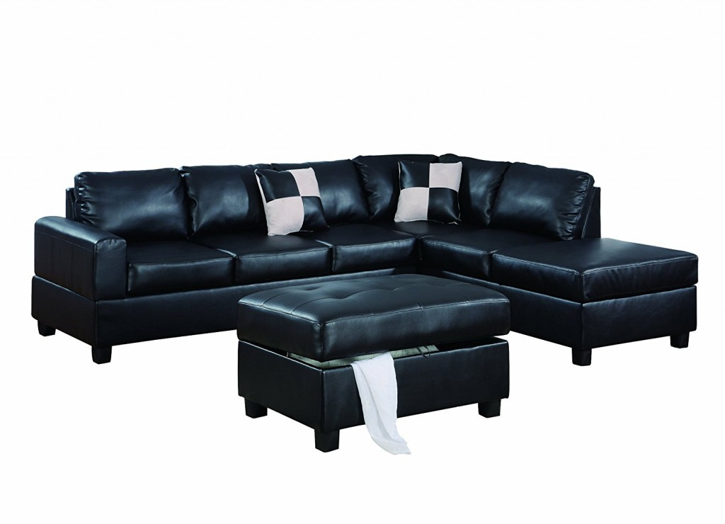 Black L Shaped Couch