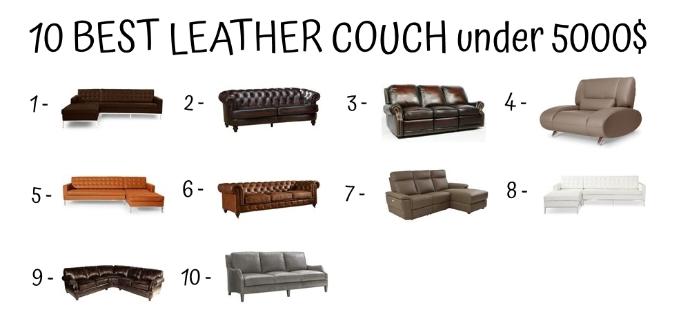 10 Best Leather Couch Under 5000$