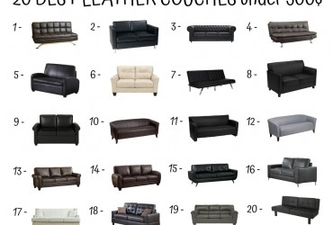 20 Best Leather Couch Under 500$