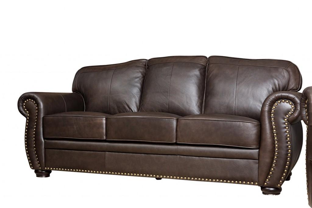 Abbyson Palaza Leather Sofa