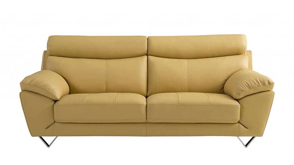 American Eagle Furniture Valencia Collection Italian Grain Leather Living Room Sofa