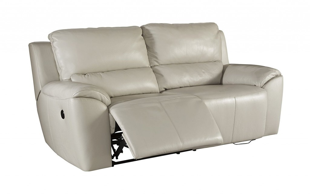 Ashley Valeton U7350047 86 Leather Match 2 Seat Reclining Power Sofa