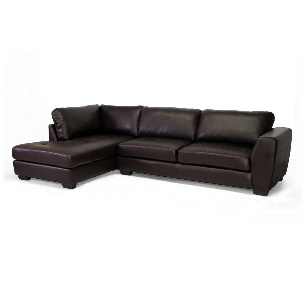 Baxton Studio Orland Leather Modern Sectional Sofa