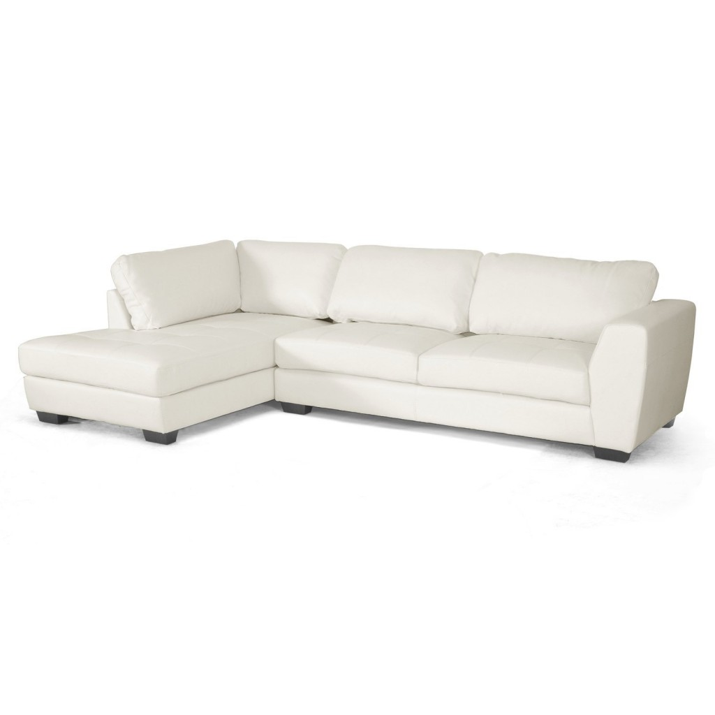 Baxton Studio Orland Leather Modern Sectional Sofa