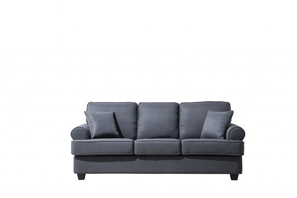 Classic Plush Fabric Sofa