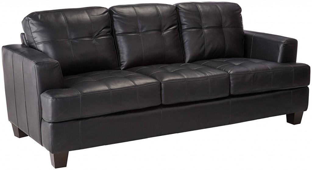 Coaster Fine Furniture 501681 Samuel Contemporary Leather Sofa