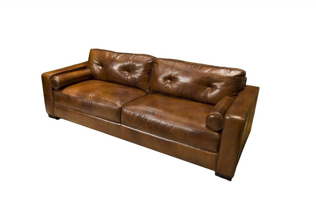 Elements Soho Top Grain Leather Sofa