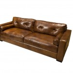 Elements Soho Top Grain Leather Sofa