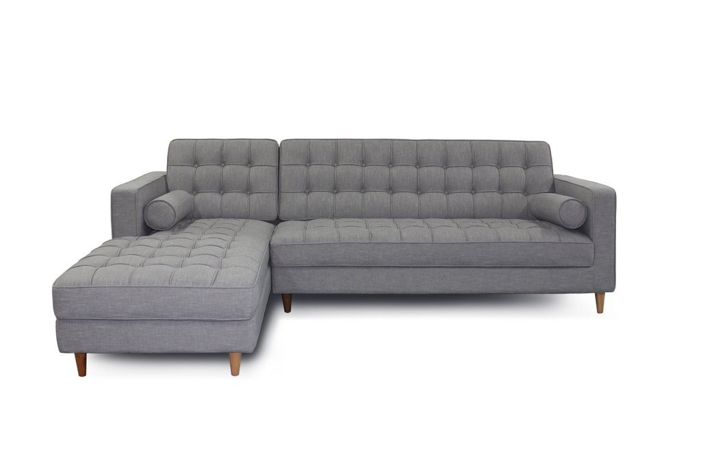 Mid Century Modern Fabric Blend Charles Sectional Sofa