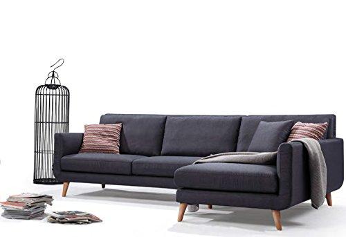 Mid Century Modern Fabric Blend Royal Sectional Sofa