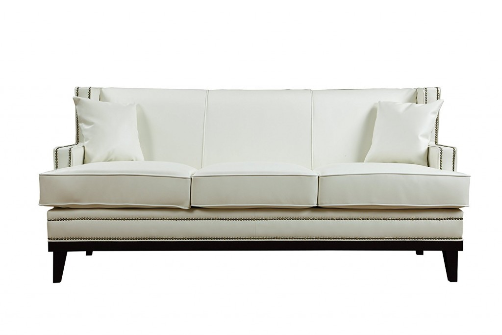 Modern Bonded Leather Sofa