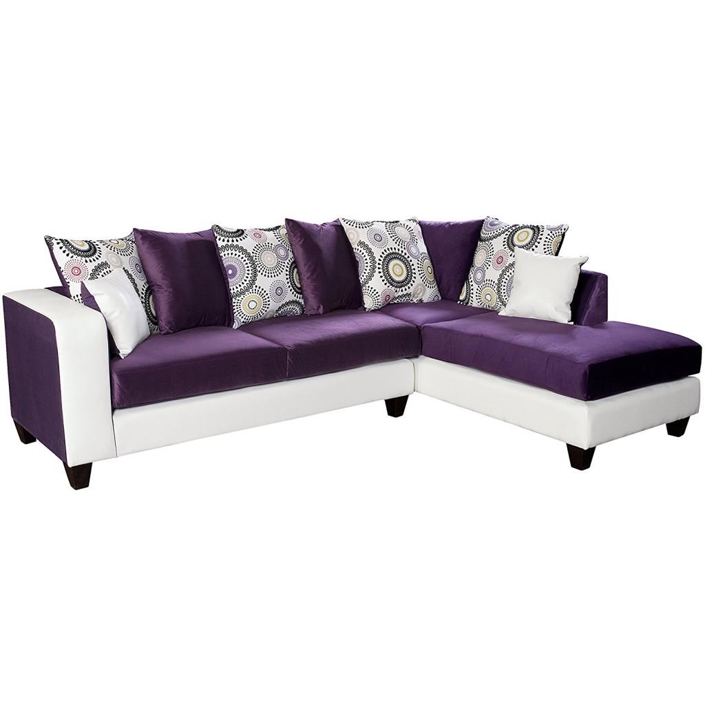 Riverstone Implosion Purple Velvet Sectional