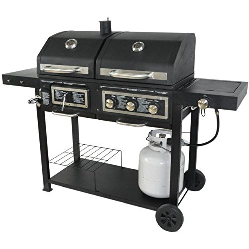Combination Gas And Charcoal Grill