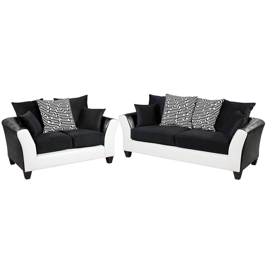Black And White Living Room Set
