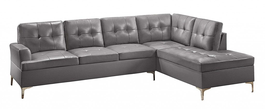 Grey Leather Couch
