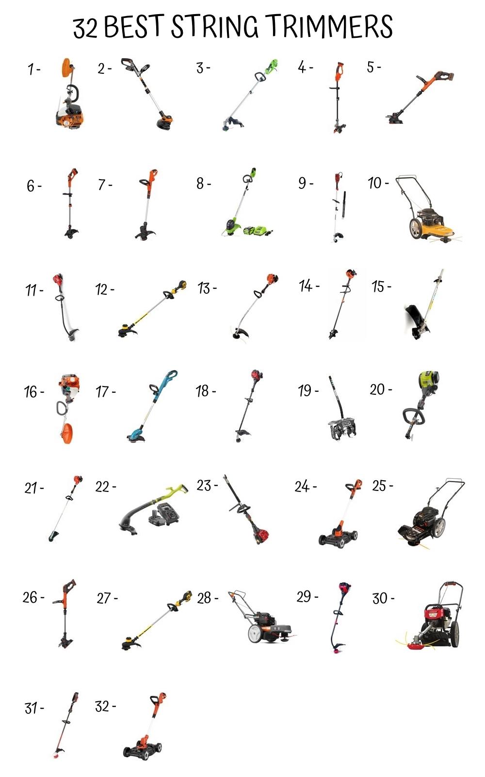 32 Best String Trimmer