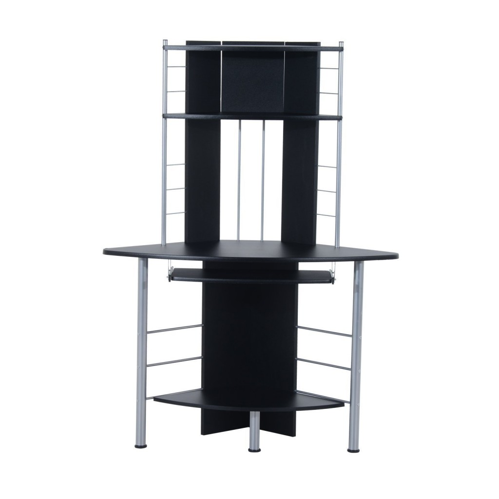 Black Corner Desk With Hutch