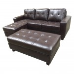 Leather Wrap Around Couch