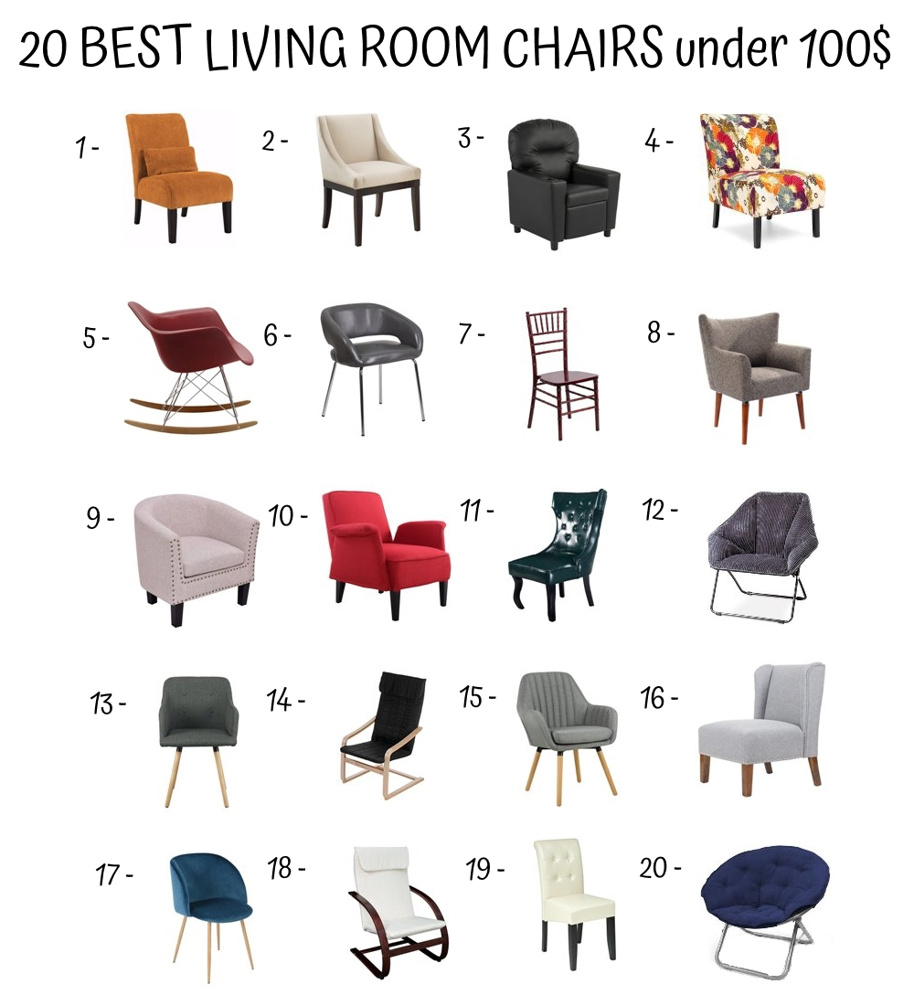 20 Best Living Room Chairs Under 100$