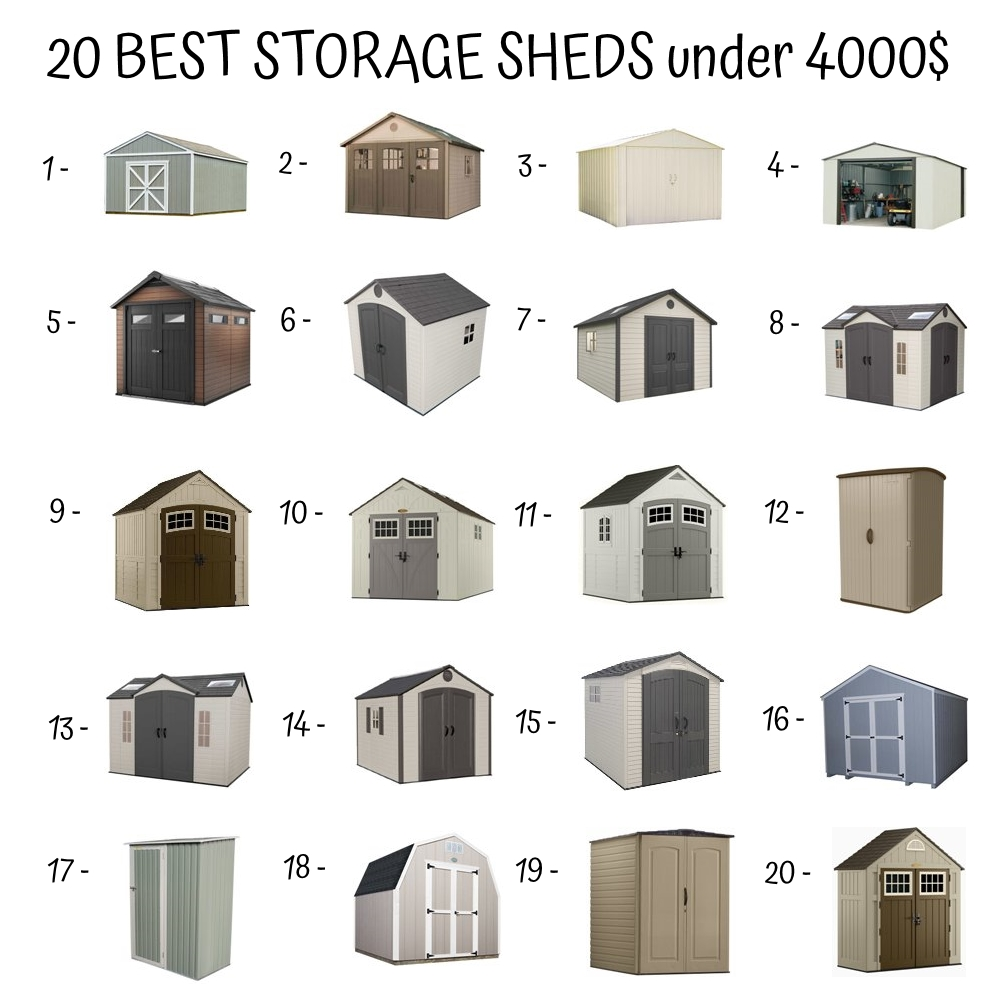 20 Best Storage Sheds Under 4000$