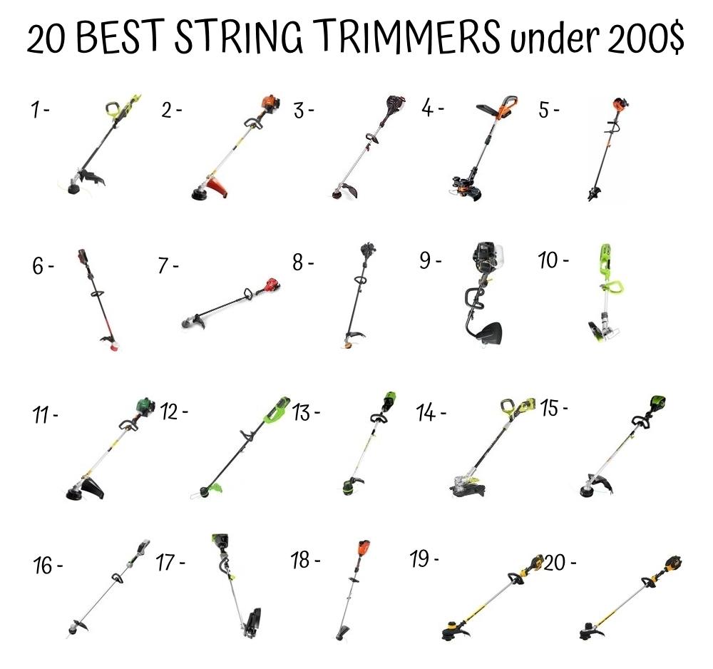 20 Best String Trimmers Under 200$