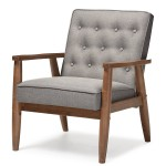 Baxton Studio Sorrento Wooden Lounge Chair