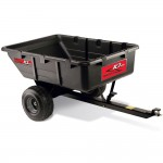Brinly PCT 10BH 10 Cubic Feet Tow Behind Poly Utility Cart