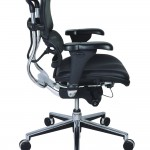 Eurotech Mid Back Black Mesh Office Chair