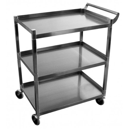 GSW Stainless Steel Solid 1 Inch Tubular Utility Cart