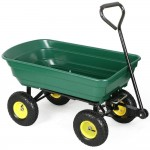 Go2buy SteelPoly Garden Dump Cart