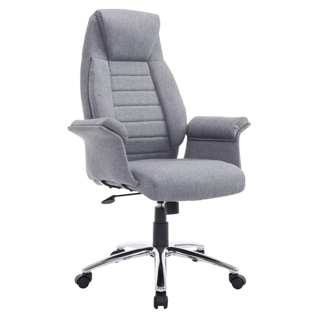 HomCom High Back Fabric Executive Office Chair