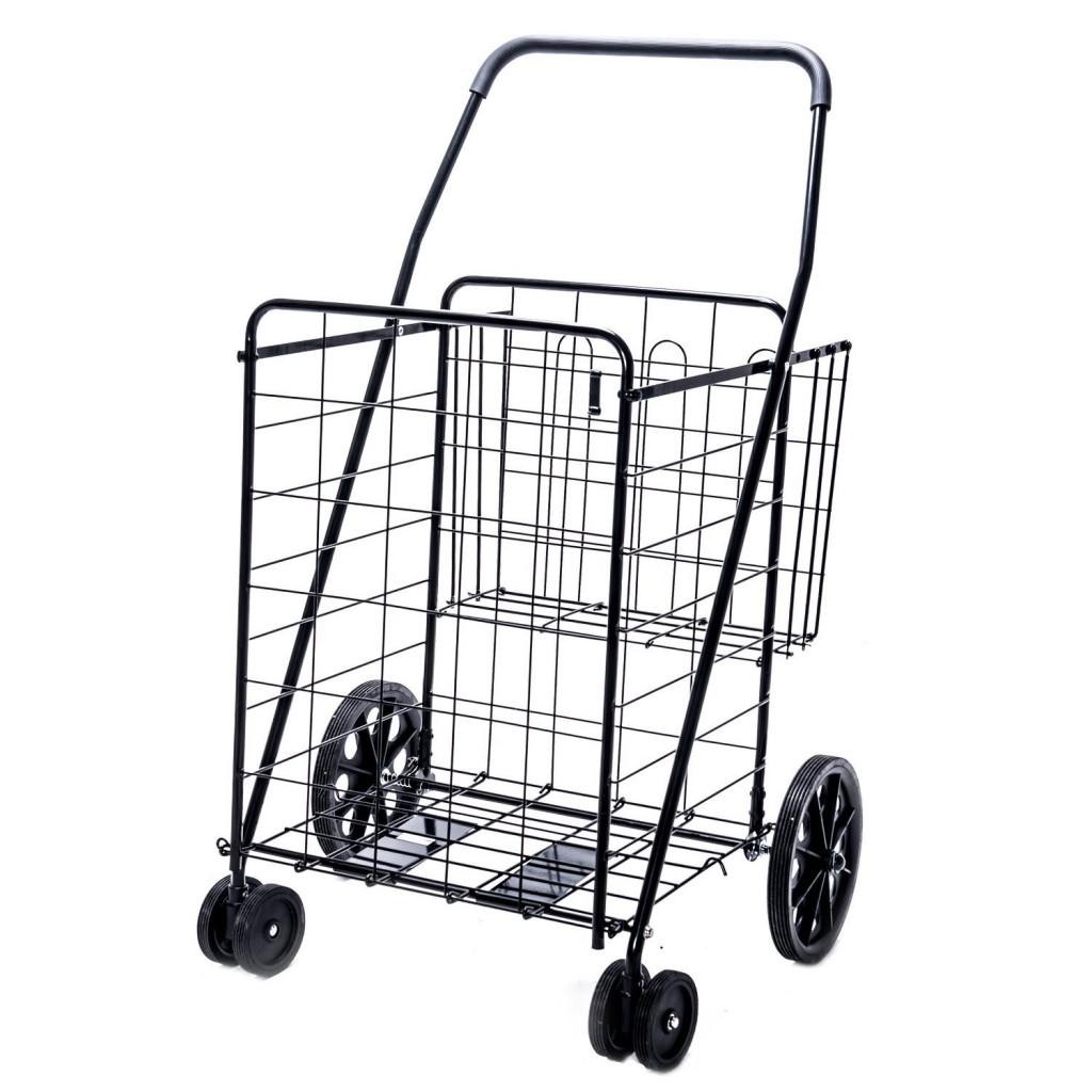 Jumbo Deluxe Folding Shopping Cart