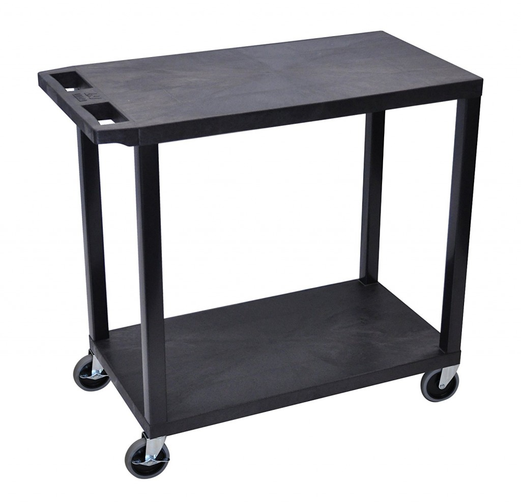 LUXOR EC22 B Cart, 2 Flat Shelves