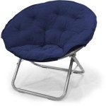 Microsuede Large Folding Saucer Chair