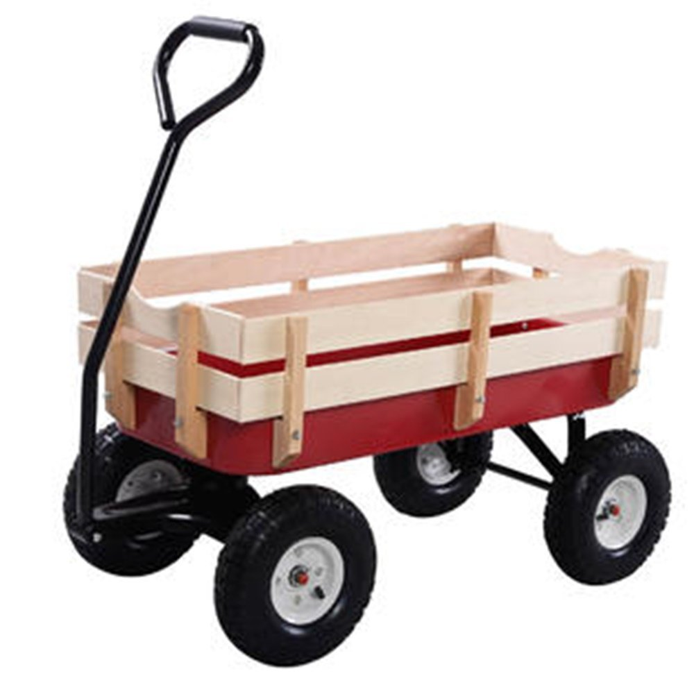 Outdoor Wagon ALL Terrain Pulling Children Kid Garden Cart