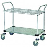 Quantum Storage Systems WRC 2436 2CG 2 Tier Wire Utility Cart