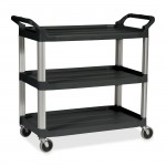 Rubbermaid Commercial 342488BLA Economy Plastic Cart