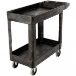 Rubbermaid Commercial Heavy Duty 2 Shelf Utility Cart